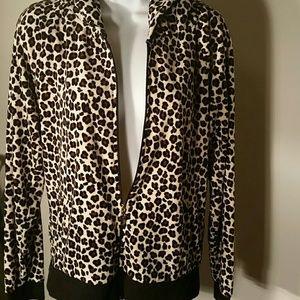 Juicy Couture Leopard Print Jacket. L
